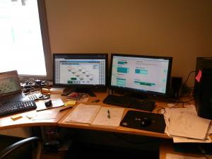 programmering og testing av silostyring